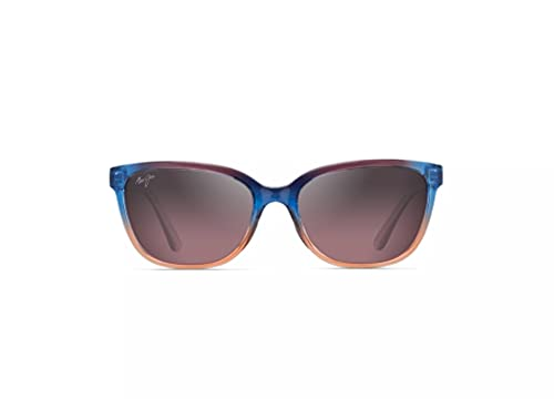 Maui Jim Women's Honi w/ Patented PolarizedPlus2 Lenses Polarized Cat Eye Sunglasses, Sunset/Maui Rose Polarized, Small