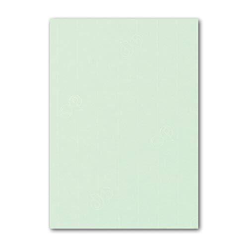 ARTOZ 50x Briefpapier - Mint DIN A4 297 x 210 mm - Edle Egoutteur-Rippung – Hochwertiges Designpapier Urkundenpapier