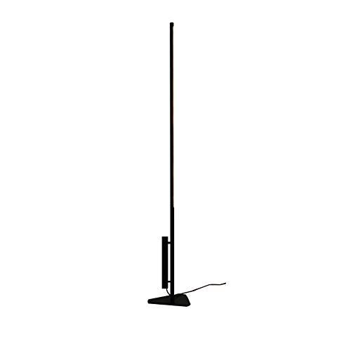 Lámpara de pie, minimalista, moderna, para dormitorio, salón, aleación, lámpara de páginas web, creativa, con forma de tubo T5, lámpara de línea simple LED, lámpara de mesa vertical, color negro