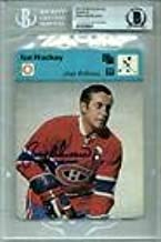 Jean Beliveau Signed #10-14 Sportscaster Card Canadiens Encapsulated Beckett Bas - Beckett Authentication