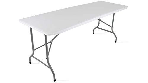 MobEventPro 104505 Tavolo pieghevole da campeggio, Plastica, Bianco, 180 x 70 x 74 cm