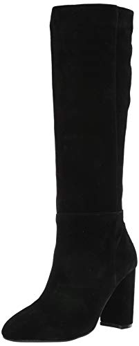 Chinese Laundry Womens KRAFTY Knee High Boot, Black Suede, 10 M US