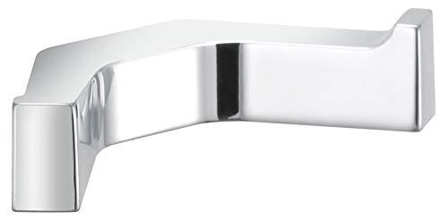 KEUCO Handtuchhaken doppelt aus Metall, hochglanz-verchromt, eckig, für Badezimmer, mit zwei Haken für Handtücher und Bademäntel, Edition 11