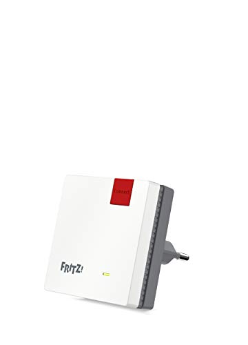 AVM FRITZ!Repeater 600 International, repeater/extender WiFi N-signaal tot 600 Mbit/s (2,4 GHz), WPS, compact design, Italiaanse interface