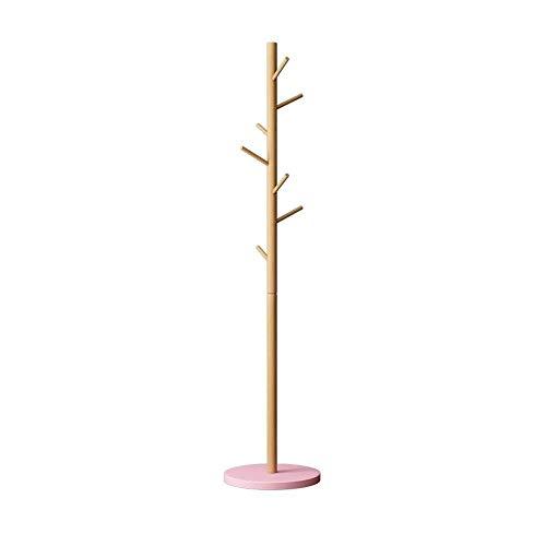Percheros QWER, Soporte De Madera para Colgar En El Suelo Soporte De Triángulo Soporte De Triángulo Sombrero 170cm / 67 In X37cm, 4 Colores para (Color : Pink)
