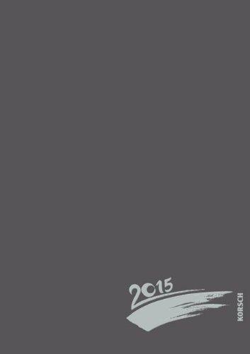 Foto-Malen-Basteln anthrazit mit Folienprägung 2015: Kalender zum Selbstgestalten