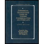 Commercial Transactions Under the Uniform Commercial Code (Analysis and Skills Series)