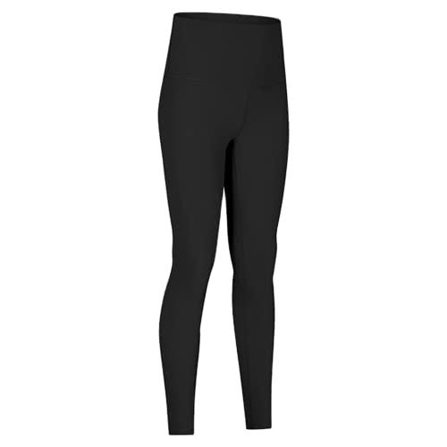 QTJY Pantalones de Yoga de Cintura Alta para Mujer, Deportes Suaves, Fitness, Estiramiento del Vientre, Leggings para Ejercicio, elásticos, Celulitis, Pantalones Deportivos A S