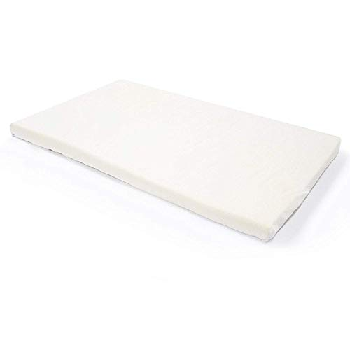 Milliard 2-Inch Ventilated Memory Foam Crib/Toddler Bed Mattress Topper with Removable Waterproof 65-Percent Cotton Non-Slip Cover - 51.5' x 27' x 2'