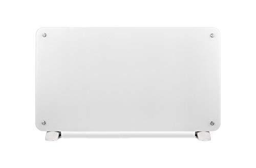Haverland OSYRIS-20 | Convector Cristal | 2000W | Portátil / Pared | Calefactor Eléctrico Programable | Termostato Digital LCD | Timer | Diseño Elegante | Soportes Incluidos | Blanco
