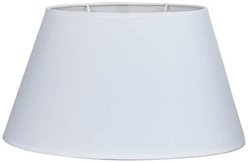 Better & Best Oval 35 cm Lampenschirm aus Baumwolle, oval, glatt, 35 x 22 cm, Weiß