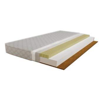 Children's Beds Home - Colchón de fibra de coco de espuma de látex - Tamaño 140x80