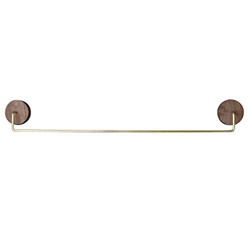 SCJ Toallero baño Barra Simple toallero Estante punzón Libre de Nogal Negro (Tamaño: 42cm)