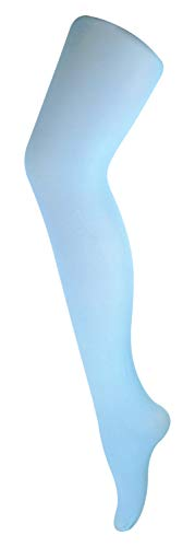 sock snob - Damen 40 Denier Blickdicht Bunt Pastell Strumpfhose für Fasching (36-42 EU, Hellblau)