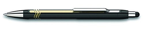 Schneider Epsilon Touch Druckkugelschreiber (Strichstärke XB, dokumentenechte Mine- Schreibfarbe: blau, inkl. Touchpen, Made in Germany) Schaftfarbe: schwarz-gold