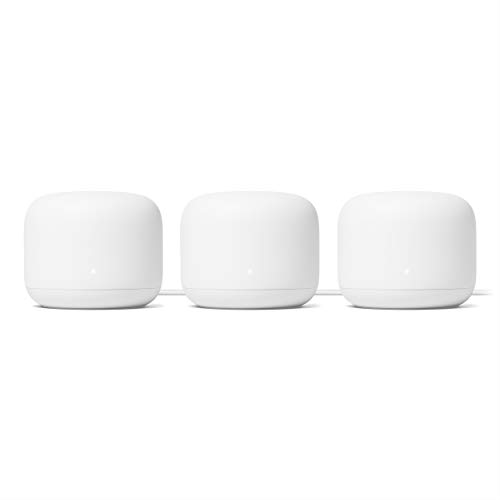 Google Nest WiFi Router 3 Pack (2nd Generation) – 4x4 AC2200 Mesh Wi-Fi Routers with 6600 Sq Ft Coverage