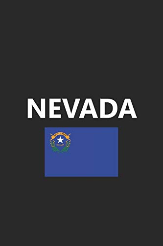 Nevada: State Flag City NV Notebook Journal Lined Wide Ruled Paper Stylish Diary Vacation Travel Planner 6x9 Inches 120 Pages Gift