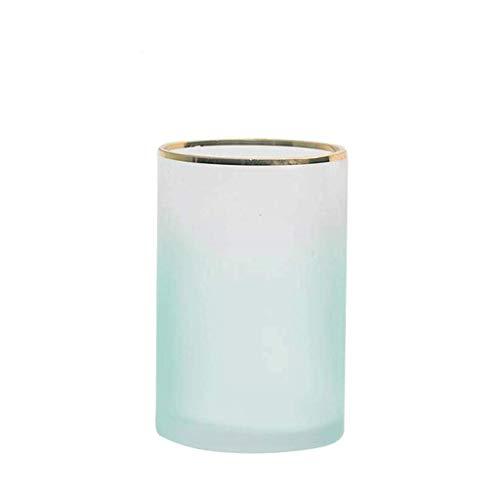 Jarrón para tumbas de cristal Hometransparent con arreglo de flores para decoración del hogar de agua más brillante, diseño floral de color neutro, para flores (color: verde-a)