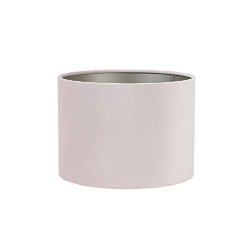 Light & Living lampenkap cilinder 30-21 cm Velours lichtroze voor woonkamer eetkamer slaapkamer enz.