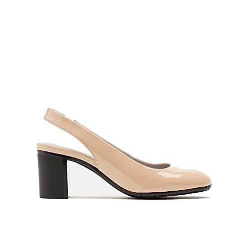 BATA Slingback Sandalen mit runder Spitze für Damen, Elfenbein - Nude - Größe: 35 EU