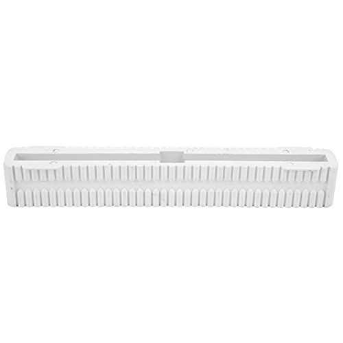 Caja de Aletas de Longboard, Elegante Caja de Aletas de Tabla de Surf de 8 Pulgadas, Ligera, de PVC, para Tabla de Surf, Caja de Aletas, Paleta para Tablas de Windsurf para Tablas de Surf(White)