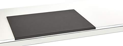 Luxentury Schreibtischunterlage Schreibunterlage Leder Kantenschutz: 68x49 cm Echtleder abgewinkelt Auflage schwarz rutschfest für Büro