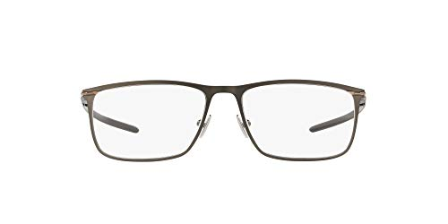 Oakley Men's OX5138 Tie Bar Titanium Rectangular Prescription Eyeglass Frames, Satin Olive/Demo Lens, 53 mm