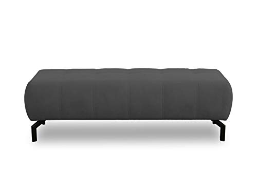 DOMO. collection Cunelli Ecksofa, Sofa mit Rückenfunktion, Garnitur mit Relaxfunktion, anthrazit, 153x62x45 cm