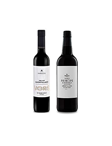 Vino VORS Amontillado Harveys de 50 cl y Vino Amontillado VORS Principe de Barbadillo de 75 cl - Mezclanza Exclusiva