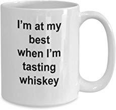LECE Grappig van De Beste Gift Whiskey Proeverij - Grappige Nieuwigheid Keramische Koffiemok Cadeau-idee voor Whiskey proeverijen