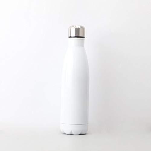 Doble Taza de Acero Inoxidable Exterior de Vidrio ventosas Encargo portátil Botella de Coca Cola no se preocupe, Vasos Reutilizables, con Aislamiento de vacío de Doble Pared