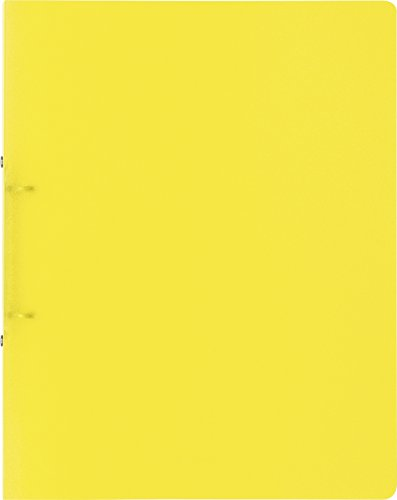 Brunnen 106551610 Ringbuch FACT!pp (A4, transluzente PP-Folie, 16 mm Füllhöhe, 2 Ringe) gelb