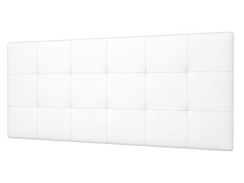 LA WEB DEL COLCHON - Cabecero tapizado Celio para Cama de 135 (145 x 70 cms) Blanco