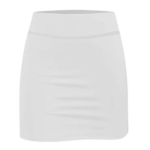 Dorical Frauen Mädchen Rock Kurz Culottes Tennisrock Yoga Skort mit Innenhose Taschen Fashion Sportrock für Frauen Mädchen Golf Sport