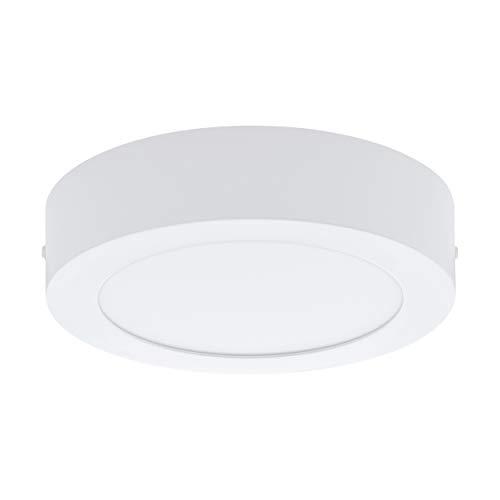 Preisvergleich Produktbild EGLO LED Deckenleuchte Fueva 1,  1 flammige Deckenlampe,  Material: Metallguss,  Kunststoff,  Farbe: Weiß,  Ø: 17 cm,  warmweiß