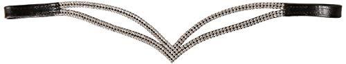 CWELL EQUINE V Split klar Kristall Stirnband Wahl von 4Größen (X Full 43,2cm)