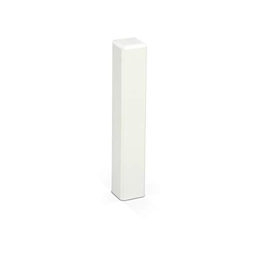 KGM Eckturm weiß 105mm für Sockelleisten | Eckstäbe massiv - Holz Verbinder ✓Endstück ✓Außenecken ✓Innenecken ✓Leisten-Verbinder | Saubere Ecken und Fussleisten Übergänge – ohne Gehrung Schneiden