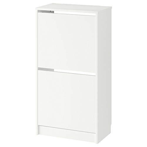 IKEA BISSA schoenenkast met 2 vakken wit (49x28x93 cm)