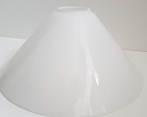 Ersatzglas Ø22,5 Lampenglas Lampenschirm konisch E27 opal glänzend Pendelleuchte Tischleuchte Leseleuchte Fluterglas