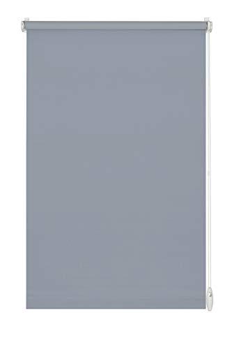 Gardinia Estor Enrollable para Sujetar o Pegar, Opaco Pero translúcido,con Todas Las Piezas de Montaje Incluidas - Estor Easyfix Uni, Color Azul Ahumado, 45 x 150 cm (Ancho x Alto)