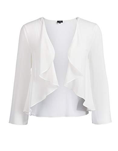 Bexleys Woman by Adler Mode Damen Jacke in transparenter Chiffonqualität cremeweiß 50