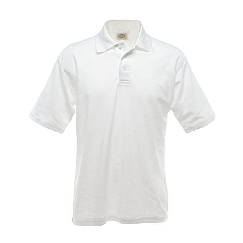 Polo uni à manches courtes UCC pour homme (4XL) (Blanc)