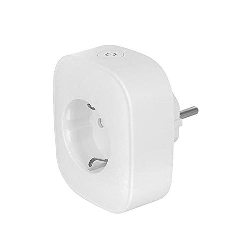 bysonice Enchufe Inteligente Conectado a Wi-Fi Compatible con Android iOS Amazon Alexa Google Home Enchufes de Control Remoto