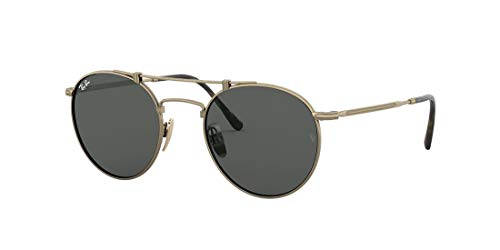 Ray-Ban Rb8147 TITANIO-0RB8147913757, Antique Gold/Grey, 50/21/140 Unisex Adulto