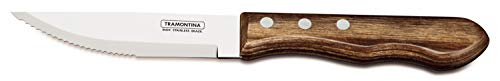 Tramontina Set of 4 Jumbo Steak Knives with Wooden Handles 1