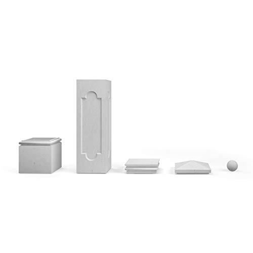 TRAX Beton Zaunpfeiler 1020 Komplettset Pfeiler L x B x H: 45 x 45 x 237 cm