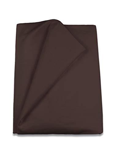 Lasa Royal - Funda nórdica lisa de 240 x 220 + 40 cm, para camas de 150 y 160 cm, color chocolate