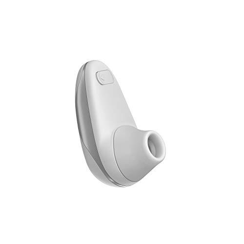 Womanizer Starlet - Vibrador de soporte, estimulador y succionador de clítoris con 4 niveles de intensidad, pequeño y práctico, blanco