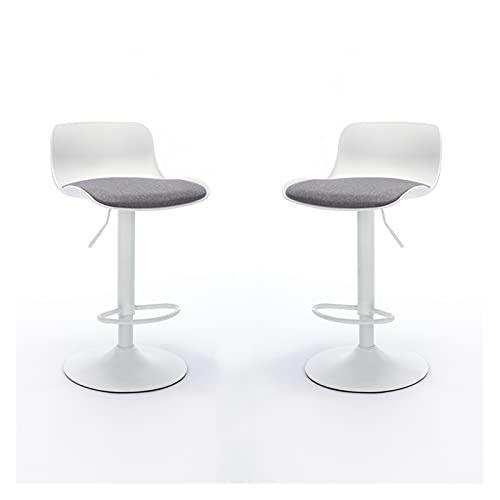 Silla de Oficina Conjunto de 2 sillas Modernas Sillas de Comedor Sillas de Comedor Taburetes de Bar Ajustable con cojín Tight Barstools Sillas para el hogar para la Oficina en casa por QILIYING