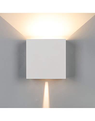 Aplique exterior impermeable MANTRA DAVOS LED 2x10W - 3000K - 1830 LMS. Cuadrado. 15 cm de lado. Color arena blanco